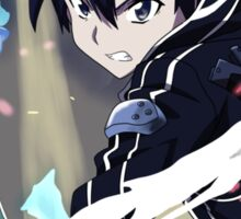 sword art online kirito anime manga shirt Sticker