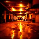 Carindale Bus Stop/Interchange - rainy Thurs night by technokitty