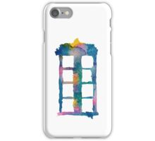 Watercolor Tardis (white) iPhone Case/Skin