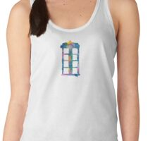 Watercolor Tardis (white) Women's Tank Top