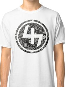 47 BLACK GANGSTER BANDANA PATTERN CIRCLE Classic T-Shirt