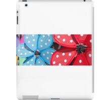 Handheld pinwheels – closeup iPad Case/Skin