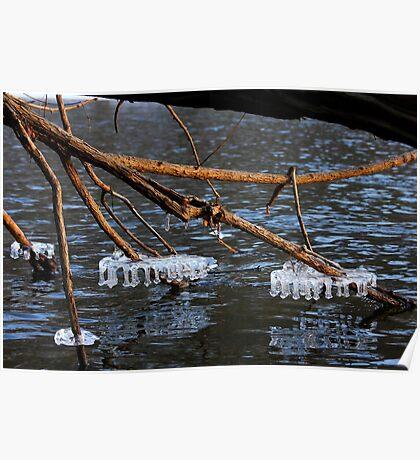 River Ice - Little Miami River Poster