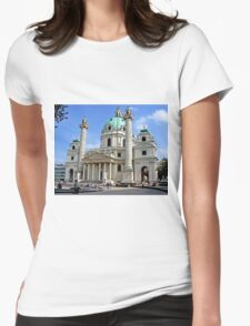 Karlskirche in Vienna Womens Fitted T-Shirt