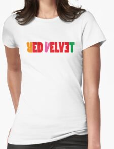 Red Velvet 'The Red' Text Womens Fitted T-Shirt