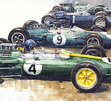 Start British GP 1963 - Lotus  Brabham  BRM by Yuriy Shevchuk