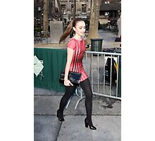 Lily Collins Photographic Print