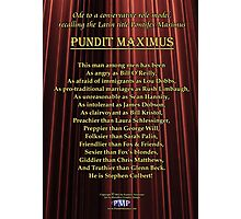 Pundit Maximus Poem Photographic Print