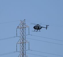 Camerman Photographing Electricity Pylons! Network S.A. by Rita Blom