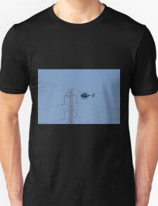 Camerman Photographing Electricity Pylons! Network S.A. Unisex T-Shirt