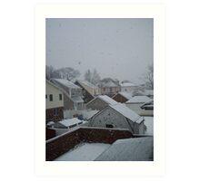 It's snowing! Art Print