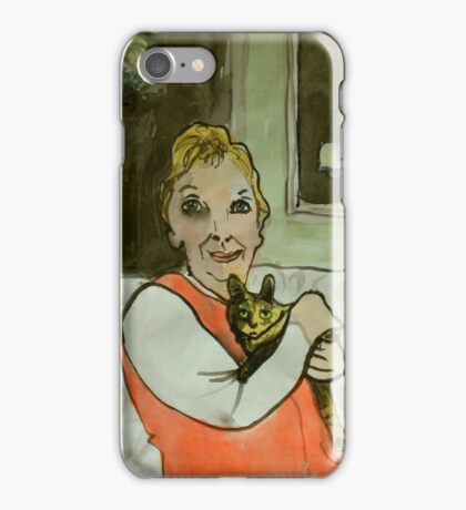 Annette and new kitten iPhone Case/Skin