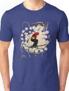 smart impressive Ski on snow mountains Unisex T-Shirt