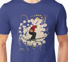 smart impressive Ski on snow mountains Unisex T-Shirt
