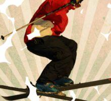 smart impressive Ski on snow mountains Sticker