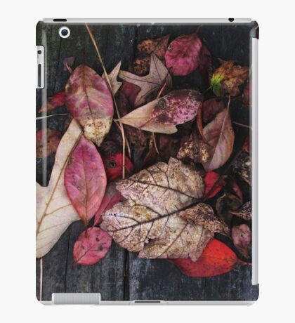 Collage Of Autumn Red iPad Case/Skin