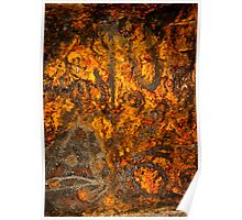 Rusty Abstract Poster