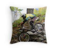 Men's Downhill Race at Sugarbush Throw Pillow