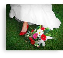 She wore red shoes Canvas Print