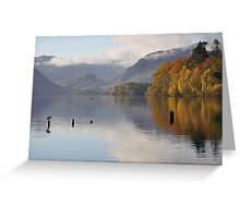 Autumn Mornings on Derwentwater Greeting Card
