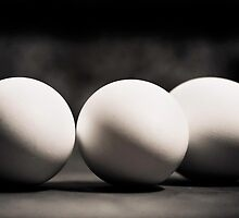 Black and white eggs by LGodbey