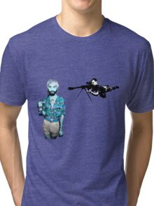 Evil Walks Among Us Tri-blend T-Shirt