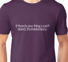 If there's one thing I can't stand, it's intolerance. Unisex T-Shirt