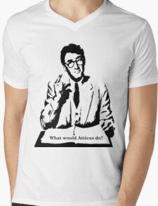 What would Atticus do? Mens V-Neck T-Shirt