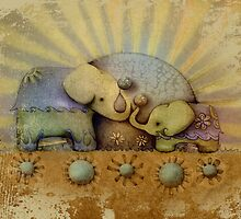 elephant blessing by © Karin (Cassidy) Taylor