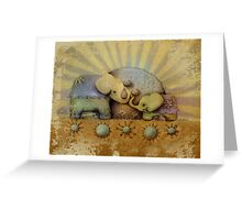 elephant blessing Greeting Card