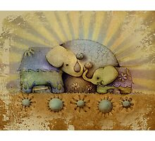 elephant blessing Photographic Print