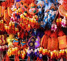 Colourful street market stall by Susan Moss