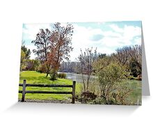 Yahara River in October Greeting Card
