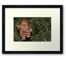 Santa Cookie Framed Print
