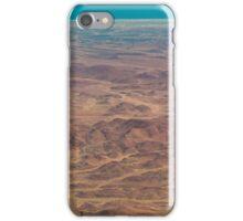 Hills red, ocean blue iPhone Case/Skin