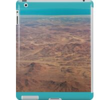Hills red, ocean blue iPad Case/Skin