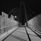 """""WALK BRIDGE"""" B&W by Joe Powell"