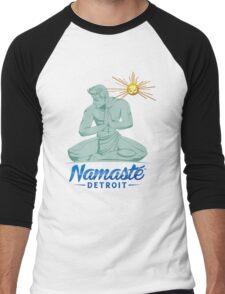 Namaste Detroit Full Color Men's Baseball ¾ T-Shirt