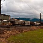 Waiting On The Train - Sumas Washington by Clayton Bruster