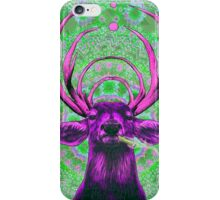 DOPE DEER SMOKING DOPE GREEN PURPLE iPhone Case/Skin