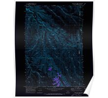 USGS Topo Map Oregon Lone Rock Creek 280571 1970 24000 Inverted Poster