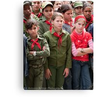 Red Girls Canvas Print