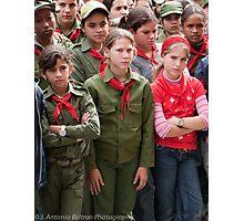 Red Girls Photographic Print