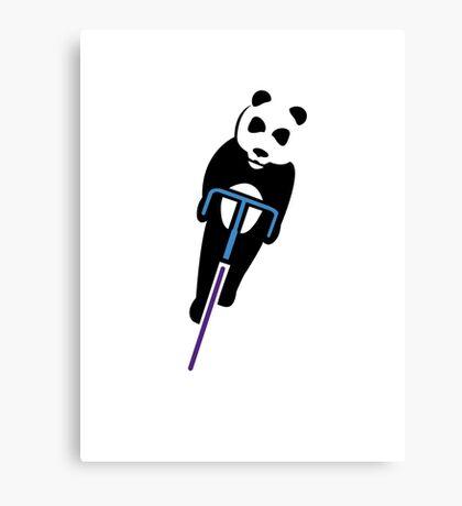 Panda Fixie Canvas Print