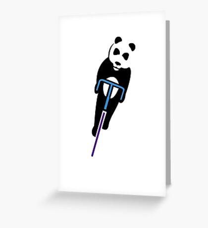 Panda Fixie Greeting Card