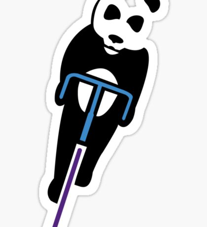 Panda Fixie Sticker