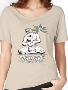 Namaste Detroit Black and White Women's Relaxed Fit T-Shirt