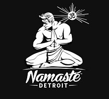 Namaste Detroit Black and White Unisex T-Shirt
