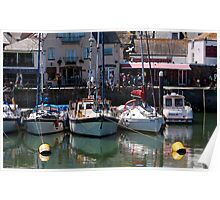 Summer Sunday - Padstow Harbour, Cornwall UK Poster