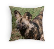 African Wild Dog Throw Pillow